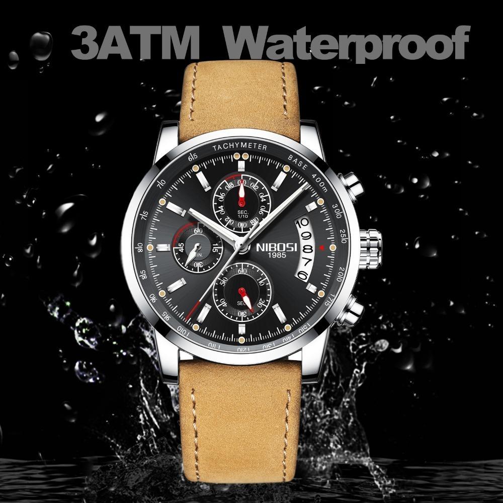 aa1cda2cd12 relógio masculino nibosi 2327-2 original. Carregando zoom.