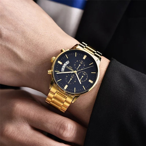 relógio masculino nibosi blindado antirisco promoção