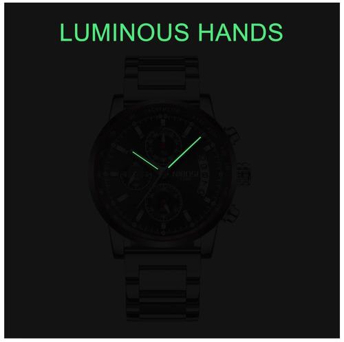 d02474d3334 Relógio Masculino Nibosi® Cronômetro E Cronógrafo À Prova D  - R ...