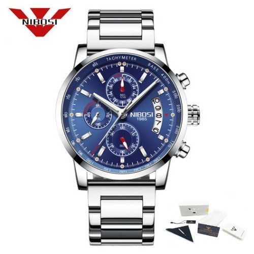 edf20ee5a62 Relógio Masculino Nibosi® Cronômetro E Cronógrafo À Prova D  - R  189