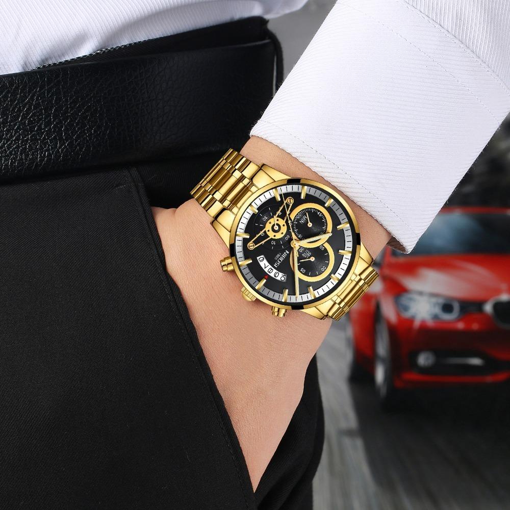 78250b1cddb relógio masculino nibosi luxo original 100% funcional. Carregando zoom.