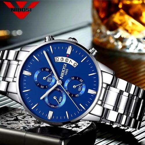 relógio masculino nibosi pronta entrega original