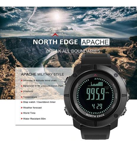 relógio masculino north edge apache altímetro, bússola...