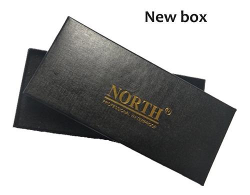 relógio masculino north pulseira couro original