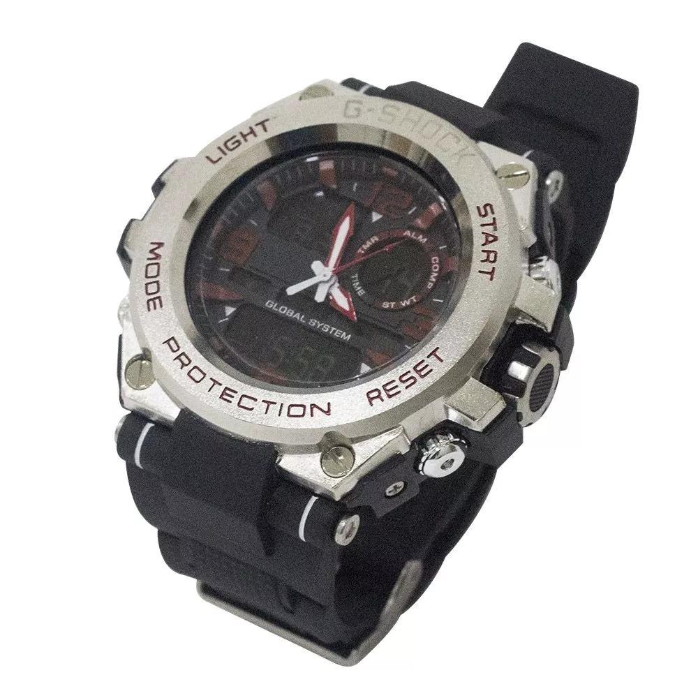 6a0a4c91e27 relógio masculino novo g-shock preto com pulseira vermelho. Carregando zoom.