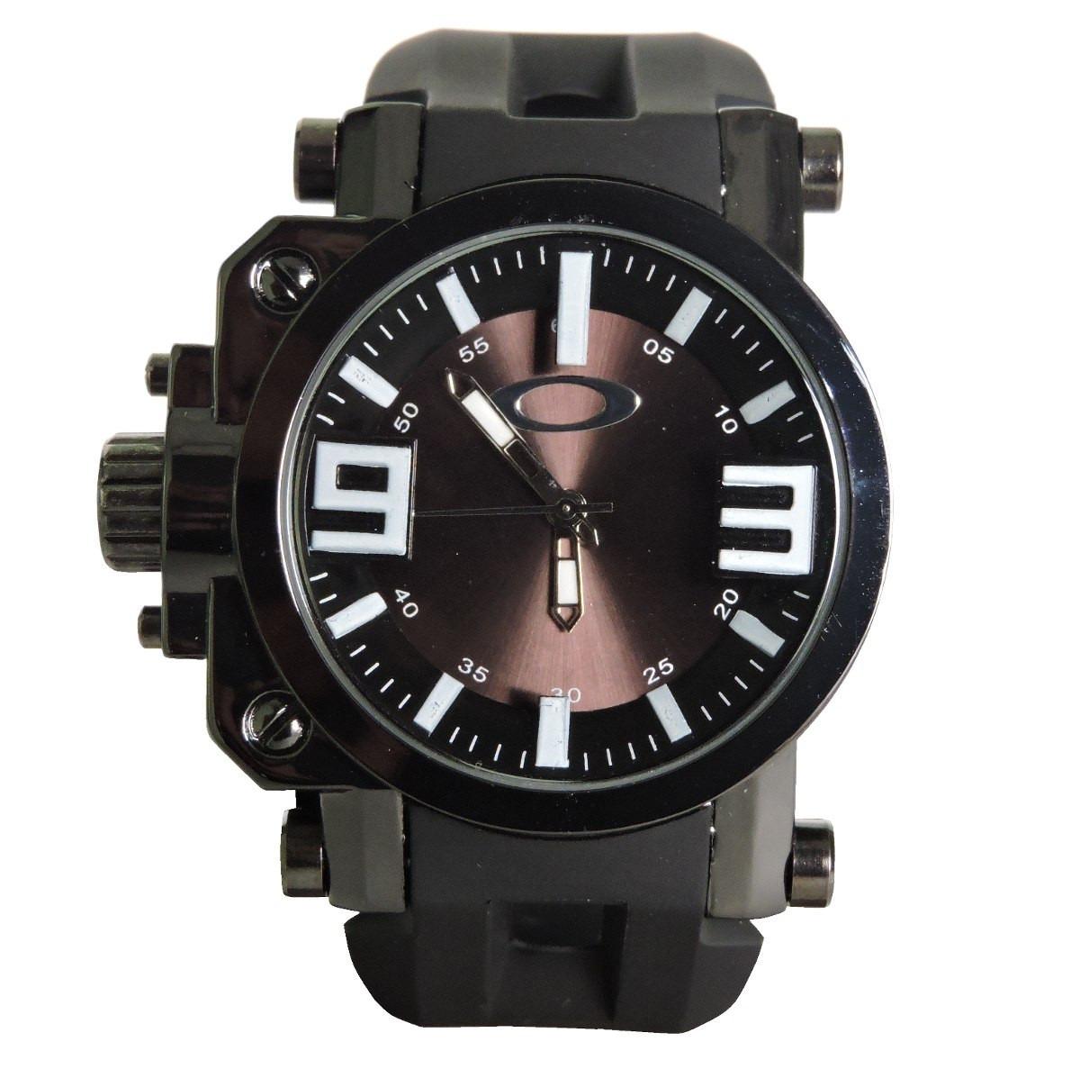 1466d68e2a6 relógio masculino oakley gearbox esporte preto. Carregando zoom.