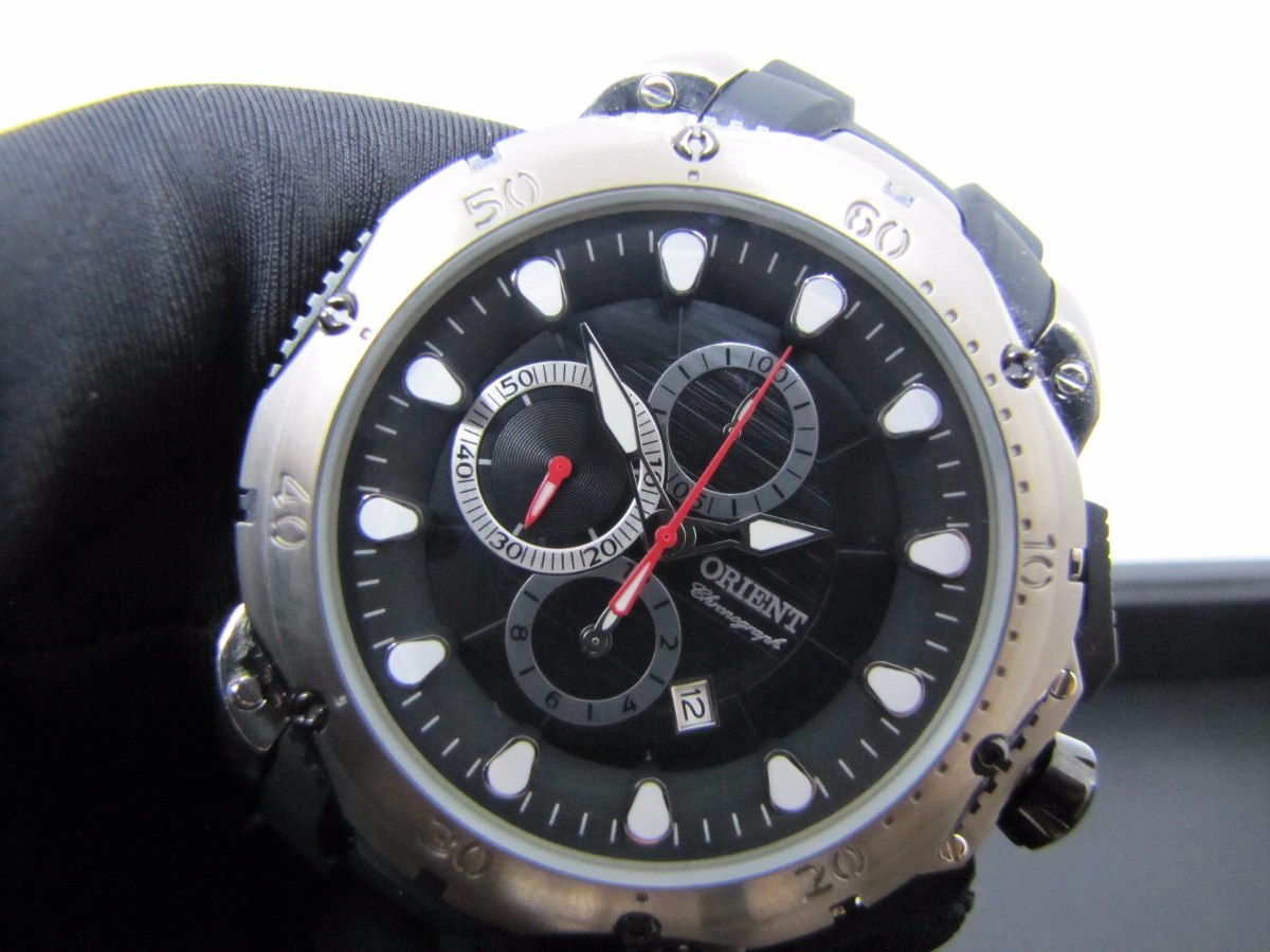 1067ecf4df3 Carregando zoom... masculino orient relógio. Carregando zoom... relógio  masculino orient mbtpc005 titanium xl extra large