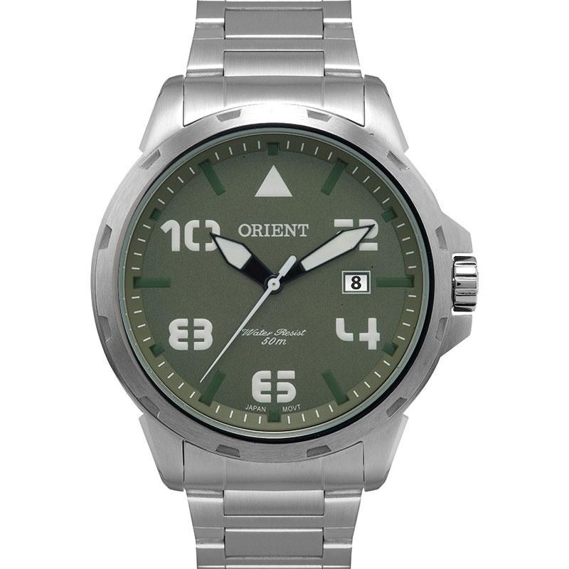 1983f6899a4 relógio masculino orient analógico mbss1195a e2sx prata ver. Carregando  zoom.