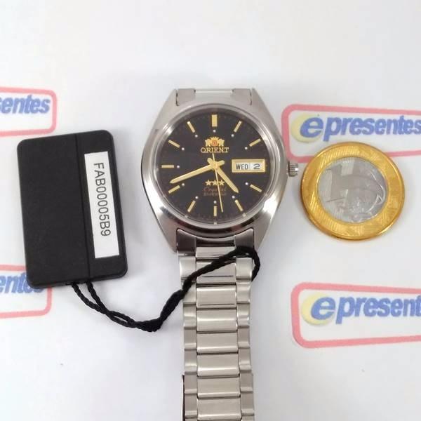 da7818ce385 Relogio Masculino Orient Automático 21rubis Fab00005b9 Preto - R ...
