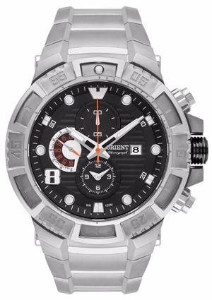 relógio masculino orient titânio grande cronógrafo mbttc012
