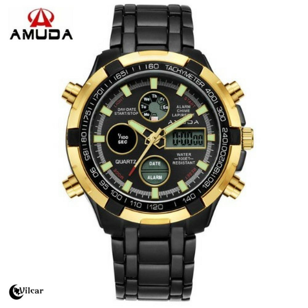 93e6d90cbf7 relógio masculino original amuda luxo - mod am2002 - preto. Carregando zoom.