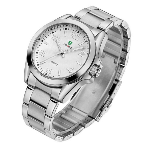 relógio masculino original casual prata cinza vintage retrô