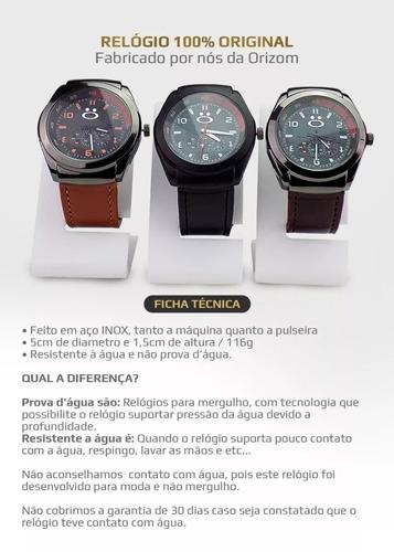 relógio masculino original couro luxo promoção spaceman