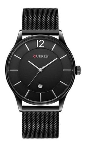 relógio masculino original curren analógico 8231 preto socia