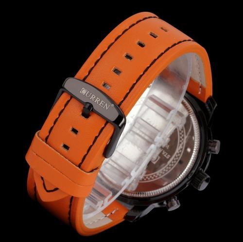 relógio masculino original curren esportivo + pulseira metal