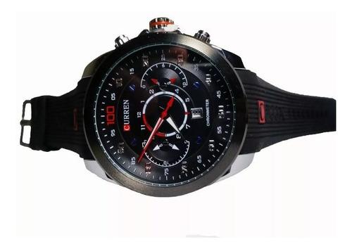 relógio masculino original curren preto esportivo calendário