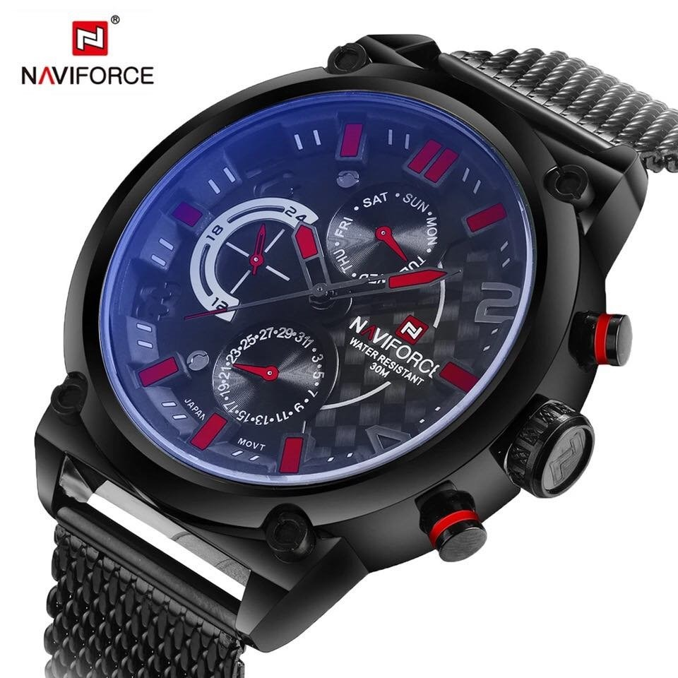 e64374707dae6 relógio masculino original luxo naviforce a prova d agua. Carregando zoom.