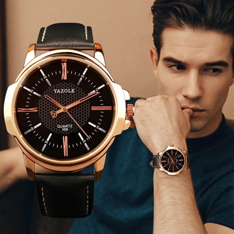 78f3b045671 relógio masculino original luxo esportivo yazole couro. Carregando zoom.