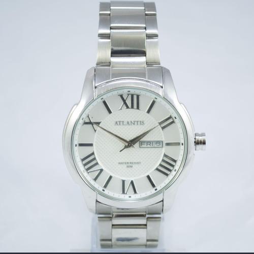 relógio masculino original marca atlantis romano prata frete