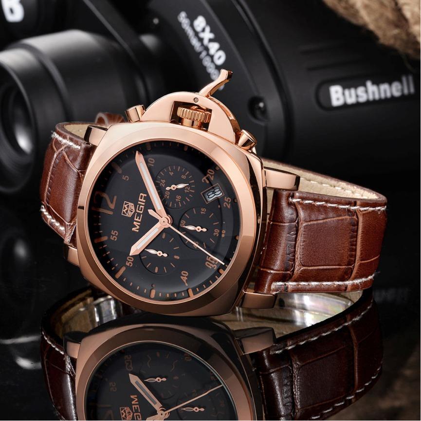 6091cc78b0f relógio masculino original multifuncional aço 316l + ouro18k. Carregando  zoom.