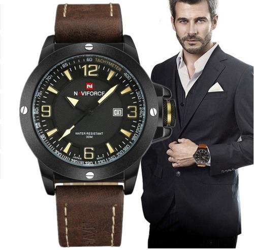 07aeaf08bb6 Relógio Masculino Original Naviforce Em Couro Frete Grátis! - R  177 ...