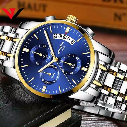 relógio masculino original nibosi luxo - promoção