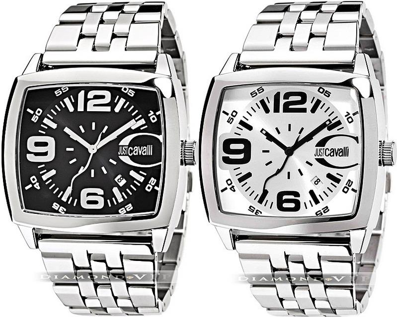 abbab82a60045 Relógio Masculino Original Prata Preto Aço Just Cavalli Novo - R ...