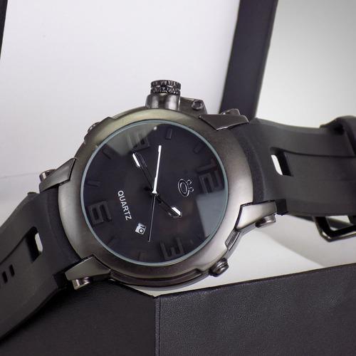 relógio masculino original preto com nota fiscal