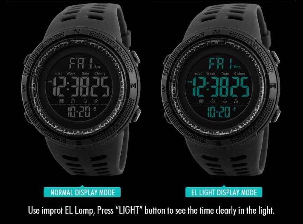 a3a55cf0fcb relógio masculino original preto digital frete grátis skmei. Carregando  zoom.