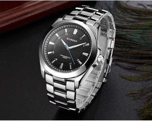 relógio masculino original prova de água grande prata cinza