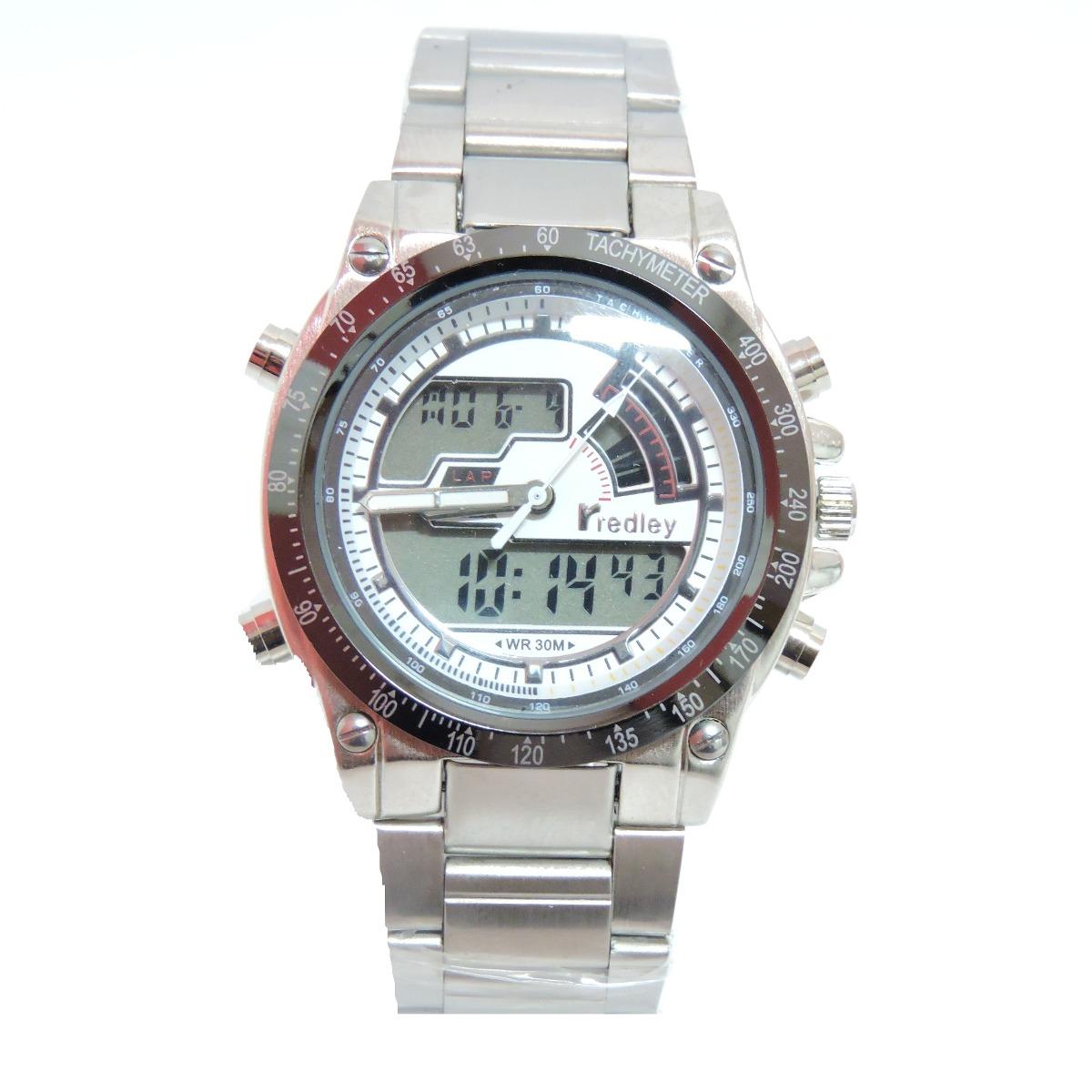 72d95f7206e Relógio Masculino Original Redley 2000g Prata E Branco - R  89