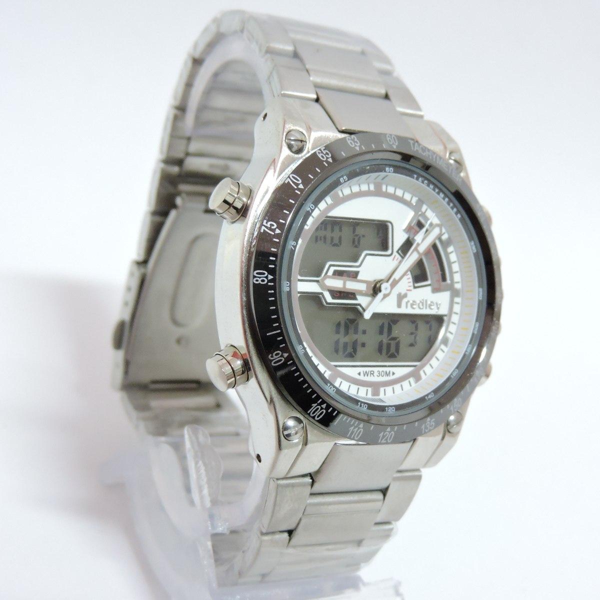 e1fb0f17e1f relógio masculino original redley 2000g prata e branco. 4 Fotos