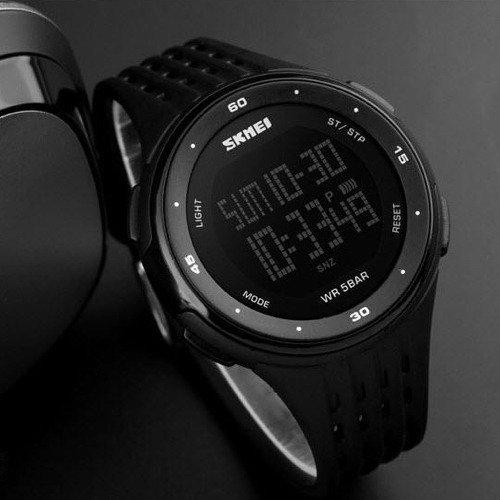 relógio masculino original skmei 1219 led digital + brinde