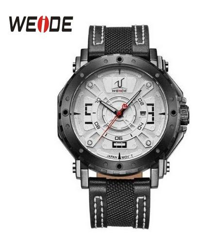 relógio masculino original weide 1601 pulseira de couro