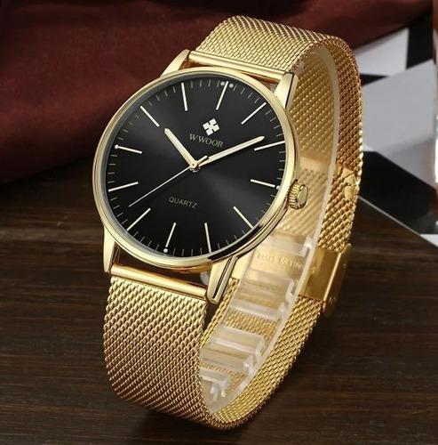 relógio masculino original wwoor luxo