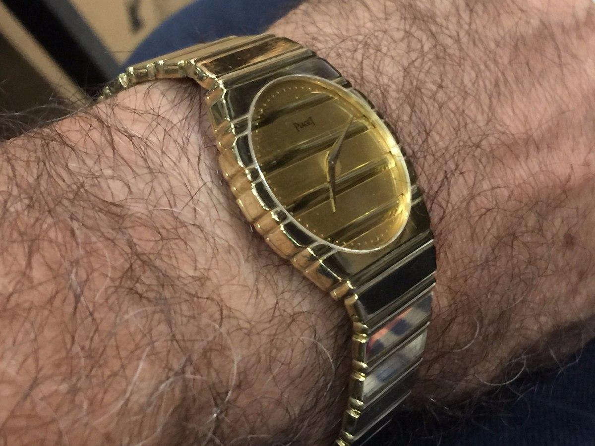 ace0bd4ef29 relógio masculino piaget polo g em ouro 18k-750. Carregando zoom.