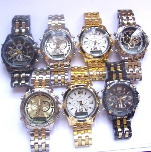 relógio masculino potenzia digital e analogic,lote com 5.