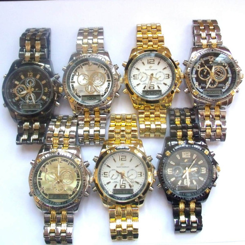 relógio masculino potenzia digital e analogic,lote com 60...