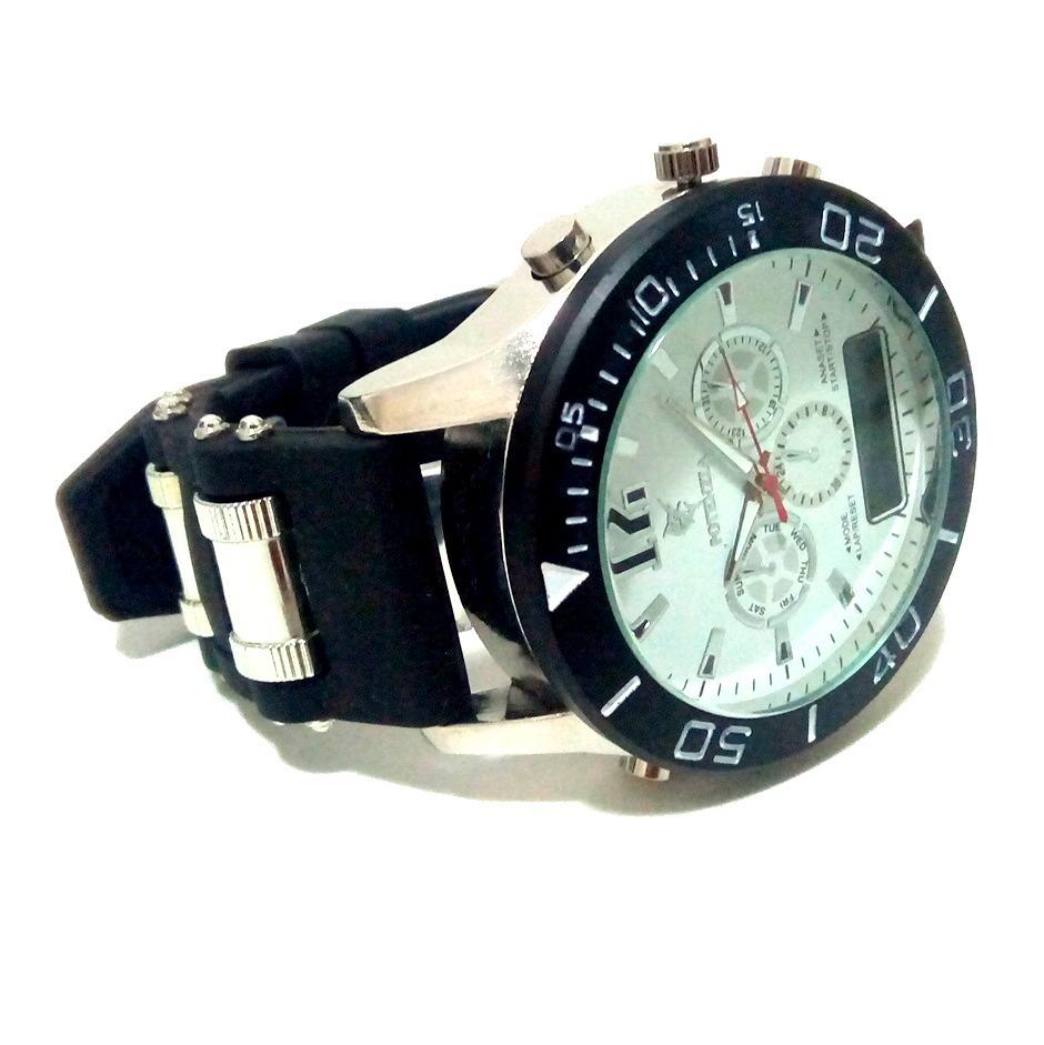 32723ec90 relógio masculino potenzia dourado prateado promoção barato. Carregando  zoom.