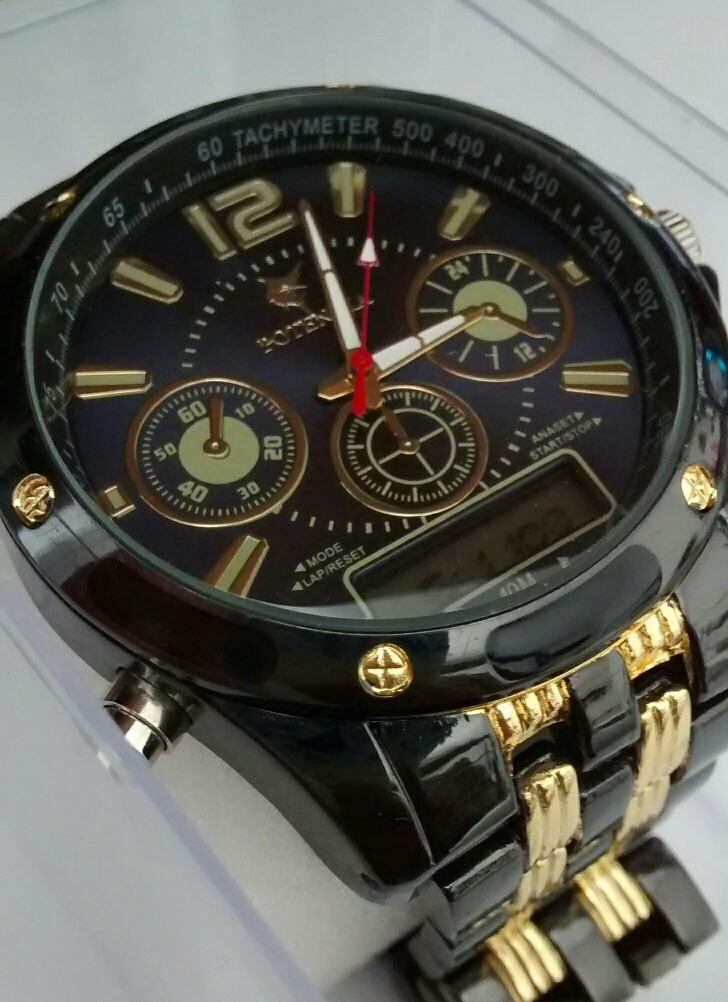 3385efafa86 relógio masculino potenzia luxo analógico e digital kit c 5. Carregando  zoom.