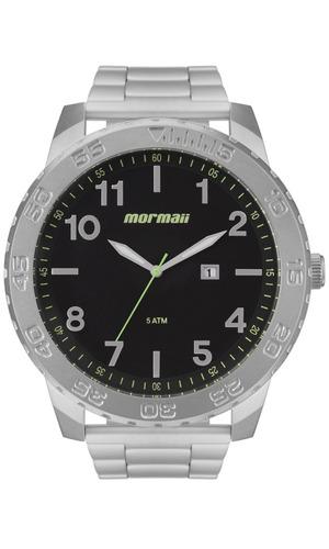 relógio masculino prata aço mormaii barato mo2115bd/1p