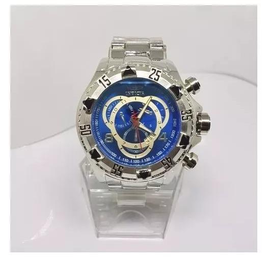 c525844977d Relógio Masculino Prata Aço Pesado Grand Barato Frete Gratis - R ...