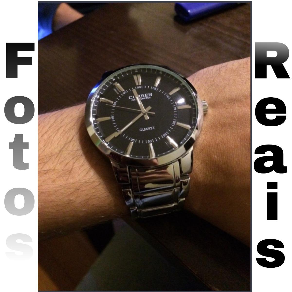 4218a1ffc55 relógio masculino prata barato curren importado original. Carregando zoom.