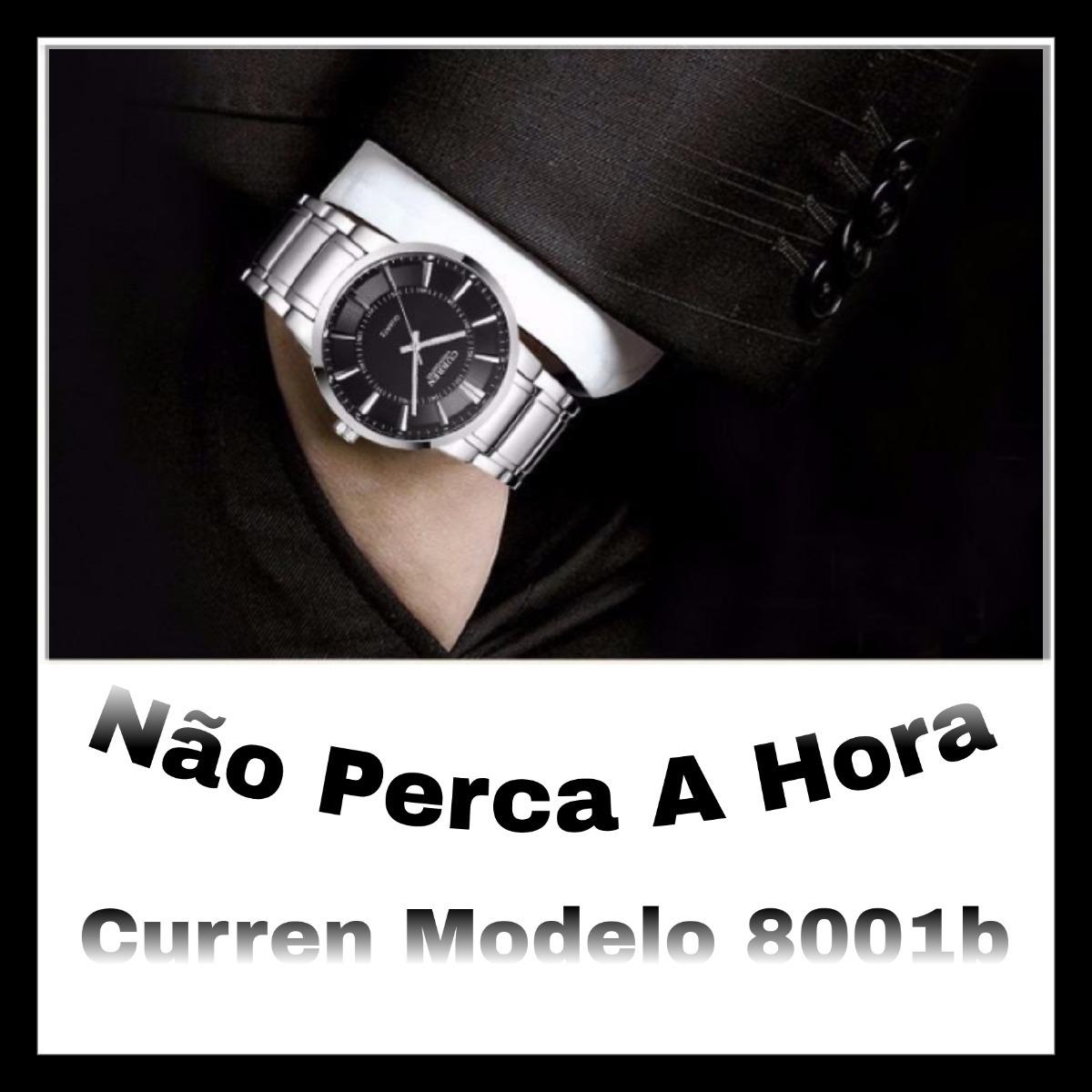 8e3a9a24602 relógio masculino prata barato curren importado original. Carregando zoom.