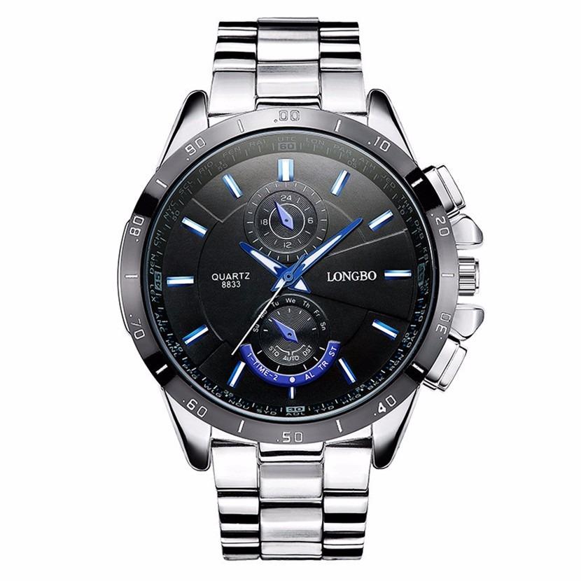 d4b9e8afb7b relógio masculino prata barato longbo original homem. Carregando zoom.