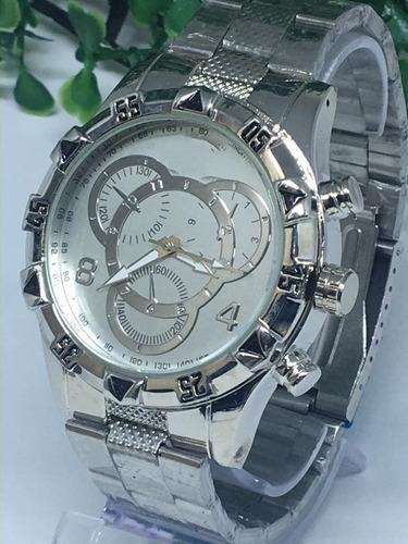 relógio masculino prata dourado barato+corrente+caixa !!