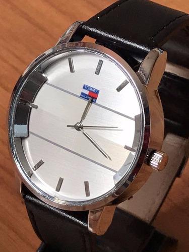 relógio masculino prata dourado branco relogio top!