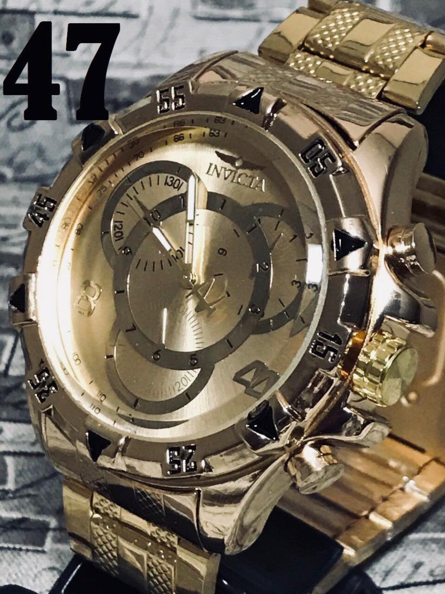 051769beb7d relógio masculino prata dourado branco relogio top barato!! Carregando zoom.
