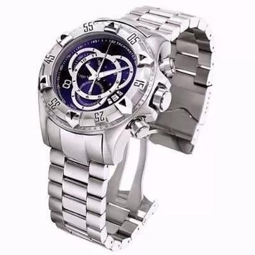 relógio masculino prata e dourado barato pesado aço