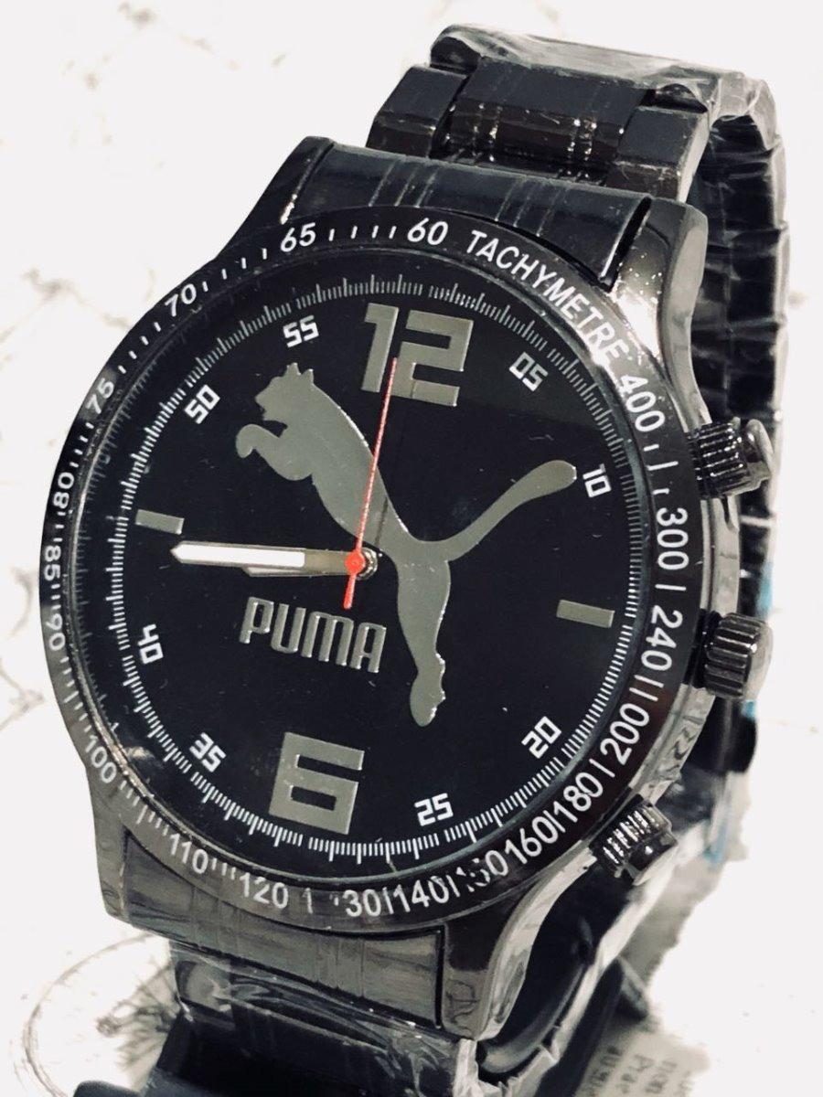 49f5f065881 relogio masculino prata-preto barato puma-nike-ck promoçao. Carregando zoom.